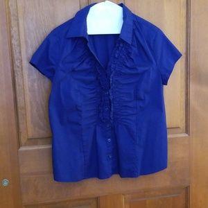 Merona Navy Blue Blouse